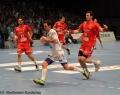 08.06.2013,  MT Melsungen; HSV Hamburg; Handball; v.l. MT 22 Michael Allendorf; HSV 24 Frederik Raahauge Petersen; MT 10 Malte Schröder