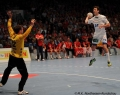 08.06.2013, Handball;  MT Melsungen; HSV Hamburg;  v.l. MT12 Per Sandström; HSV 24 Frederik Raahauge Petersen