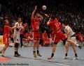 08.06.2013,  MT Melsungen; HSV Hamburg; Handball, v.l. MT; HSV 9 Igor Vori; MT 3 Jonathan Sternbäcken; MT 17 Felix Danner, HSV