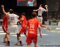 08.06.2013, Handball,  MT Melsungen, HSV Hamburg, v.l. Mt; HSV 9 Igor Vori; MT; MT 14 Christian Hildebrand; HSV 6 Blazenko Lackovic