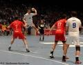 08.06.2013, Handball Herren, MT Melsungen  vs HSV Hamburg v.l. MT 7 Mattias Flohr, HSV 19  Stefan Terzic, MT 17 Felix Danner, HSV 9 Igor Vori
