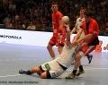 08.06.2013,  MT Melsungen , Hamburg; Handball vl MT 10 Malte Schröder; HSV 21 Andreas Nilsson; MT 3 Johnantan Stenbäcken