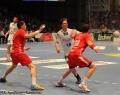 08.06.2013,  MT Melsungen; HSV Hamburg; Handball; v.l. MT; HSV 18 Hans Lindberg; MT 10 Malte Schröder
