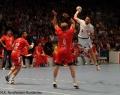 08.06.2013,  MT Melsungen; HSV Hamburg; Handball; v.l MT 22 Michael Allendorf; MT 4 Antoon Mansson; HSV 6 Blazenko Lackovic
