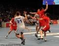 08.06.2013,  MT Melsungen; HSV Hammburg; Handball; v.l.MT 21 Christian Zufelde; HSV 21 Andreas Nilsson; HSV; MT, MT 10 Malte Schröder